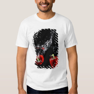 red pepper splashing in water t-shirt