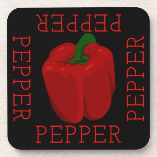 Red Pepper Square Beverage Coaster