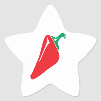 RED PEPPER STAR STICKERS