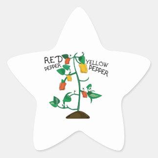 Red Pepper Star Sticker