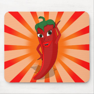 Red Pepper Superstar Mouse Pad