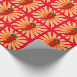 Red Pepper Superstar Wrapping Paper