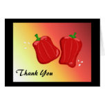 Red Pepper  Thank You Stationery Note Card