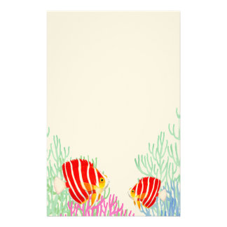 Red Peppermint Angelfish Stationery
