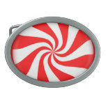 Red Peppermint Candy Belt Buckle
