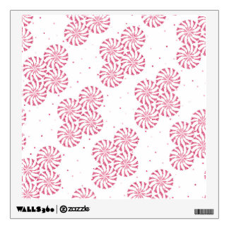 Red Peppermint Candy Christmas Sweets Pattern Wall Sticker