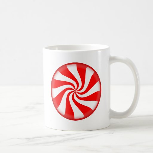 Red Peppermint Candy Coffee Mug