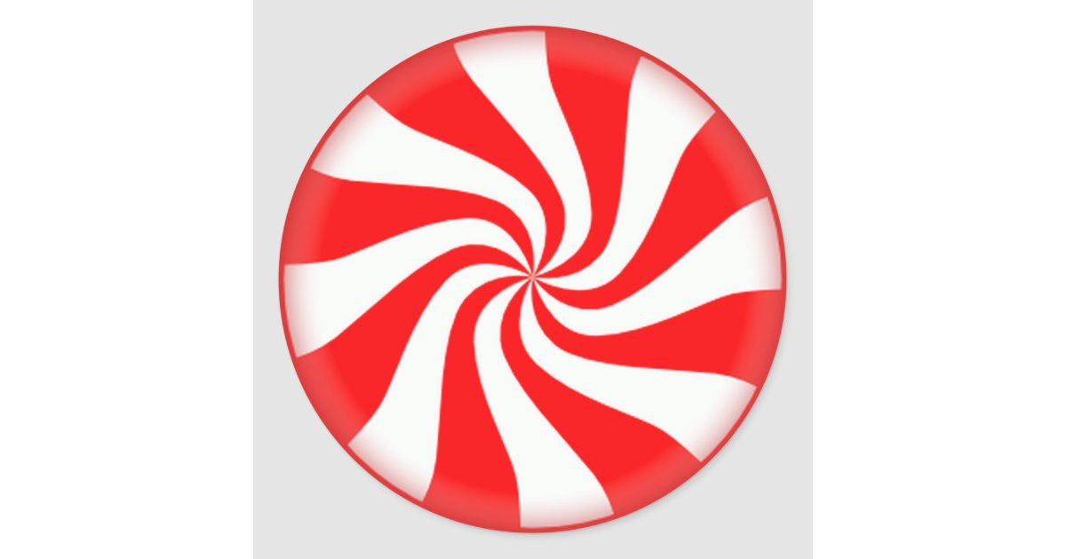 Red Peppermint Candy Stickers Zazzle Com