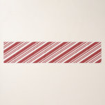 """Red Peppermint Stripe Scarf<br><div class=""""desc"""">Festive red and green peppermint stripes adorn this scarf,  the perfect accessory for your holiday wardrobe! Also available in solid red,  red and pink,  two tone green and two tone blue.  Select the size and shape that's right for you!</div>"""