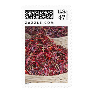 Red peppers at local produce market postage