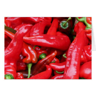 Red Peppers Card