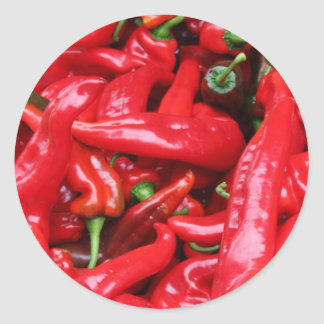Red Peppers Classic Round Sticker