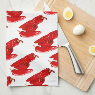 red peppers hand towel