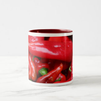 Red Peppers Two-Tone Coffee Mug