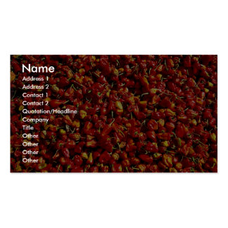 Red peppers, Myanmar Double-Sided Standard Business Cards (Pack Of 100)