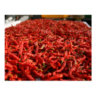 red peppers postcard