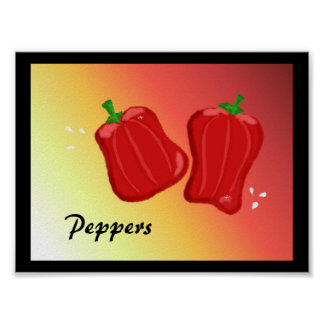 Red Peppers Poster