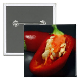 Red Peppers - Some like it really hot (in Marker) Pinback Button