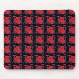 red percussion drums mouse pad