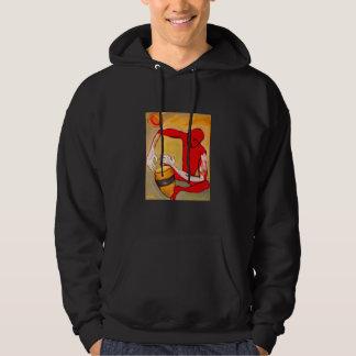 red percussionist sweatshirt