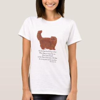Red Persian Cat Rainbow Bridge T-Shirt