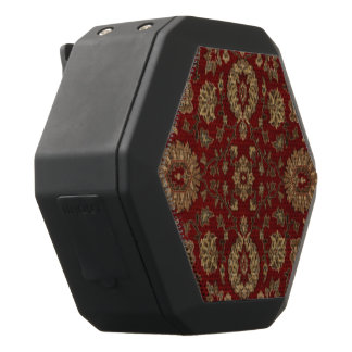 Red Persian scarlet arabesque tapestry Black Bluetooth Speaker