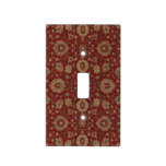 Red Persian scarlet arabesque tapestry Switch Plate Covers