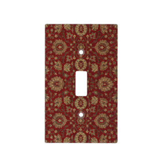 Red Persian scarlet arabesque tapestry Light Switch Plates