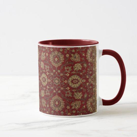 Red Persian scarlet arabesque tapestry Mug