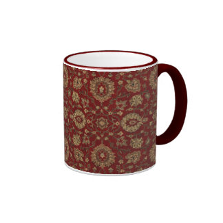 Red Persian scarlet arabesque tapestry Coffee Mug