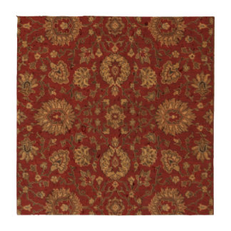 Red Persian scarlet arabesque tapestry Coaster