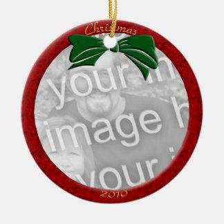 Red Personalize Photo Ornament