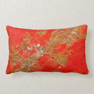 Red personalized antique car, rusted metal  pillow
