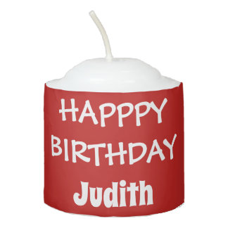 Red Personalized Birthday Candle