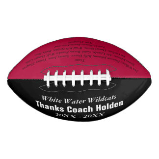 Red Personalized Coaches Name Team Members Year Football