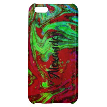 RED PERSONALIZED iPhone 5C CASE GLOSSY FINISH