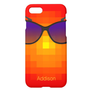 Red Personalized iPhone 7 Cases Purple Sunglasses