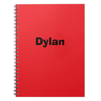 Red Personalized Notebook