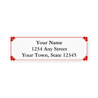 Red Personalized Printed Return Address Labels