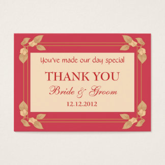 Red Personalized Wedding Favor Gift Tags