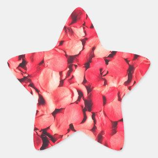 red petal flower pattern star sticker