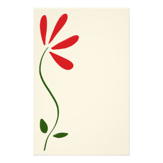 Red Petals Flower Stationery