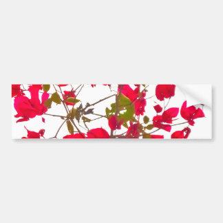 Red petals flowers bumper sticker