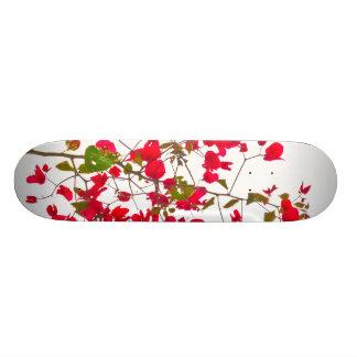 Red petals flowers skateboard deck