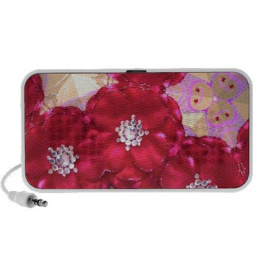 Red petals notebook speakers