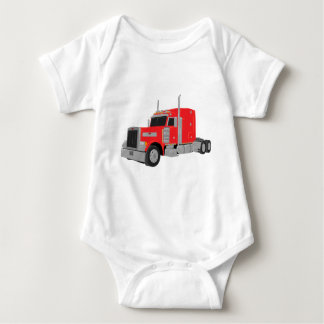 red peter built tractor baby bodysuit