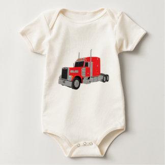 red peter built tractor baby bodysuit