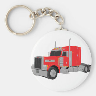 red peter built tractor keychain