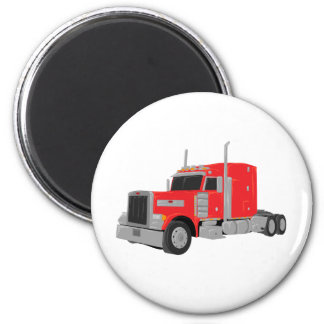 red peter built tractor magnet