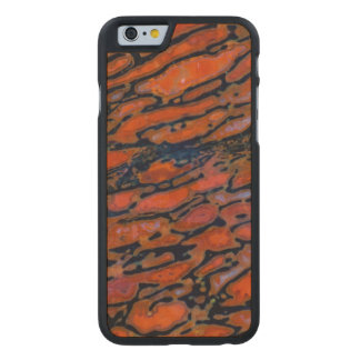 Red Petrified dinosaur bone Carved Maple iPhone 6 Case
